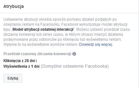 atrybucja FB