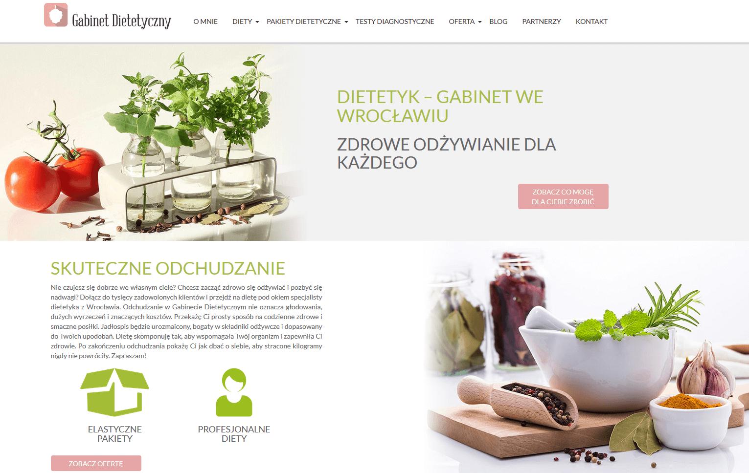 gabinet dietetyczny strona internetowa