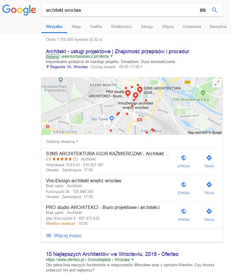 biuro architektoniczne wyniki wyszukiwania