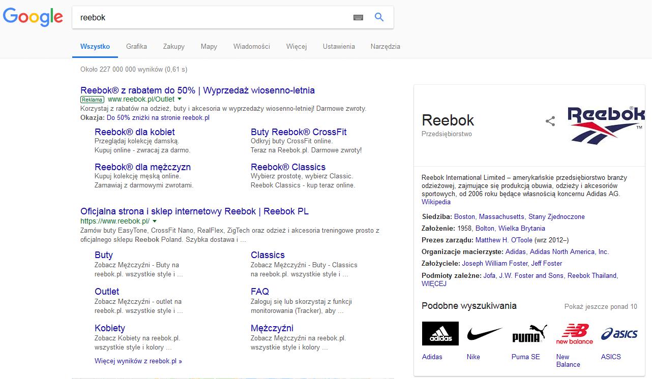 reklamy na słowa brandowe