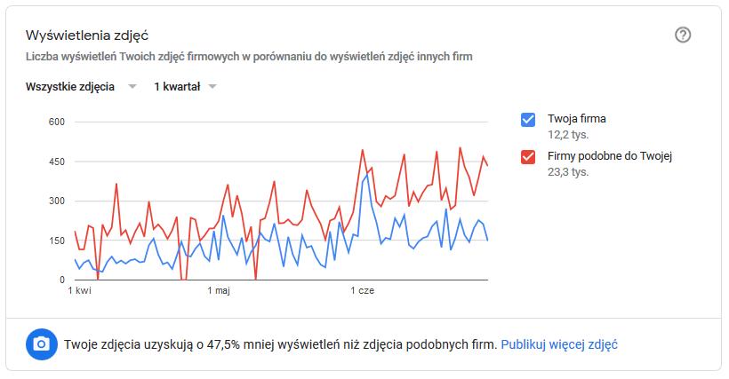 wyswietlenia zdjec google moja firma