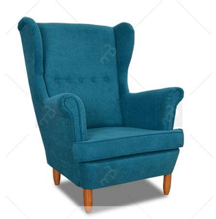 fotel uszak niebieski meble bogart